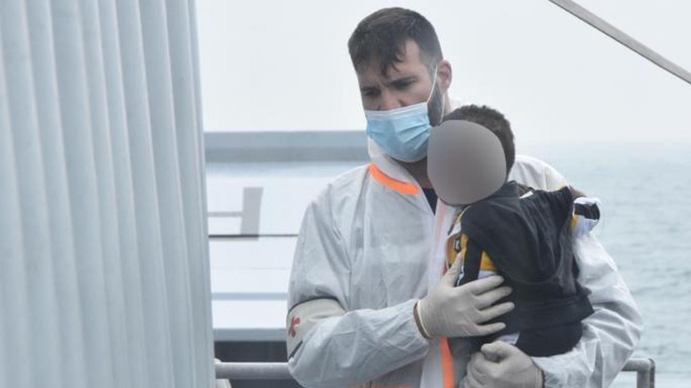 Plusieurs enfants se trouvaient notamment à bord de l'embarcation en difficulté au large de Merlimont.