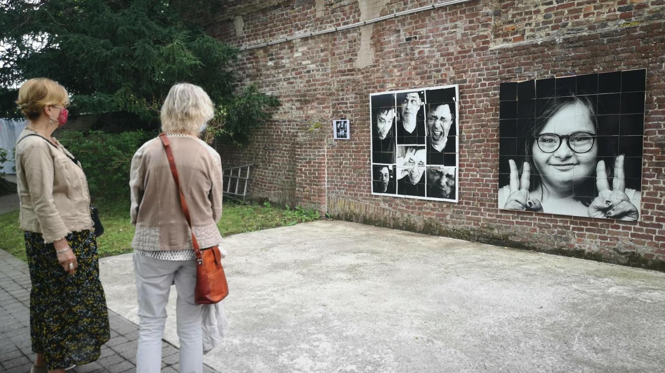 L'exposition est visible dans le jardin des Papillons Blancs, rue de la Sous-préfecture.