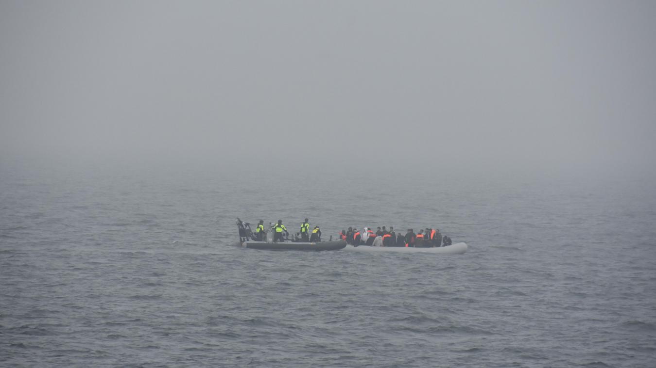 Les 22 migrants ont été récupérés au large de Gravelines, samedi 3 juillet. ©Marine nationale