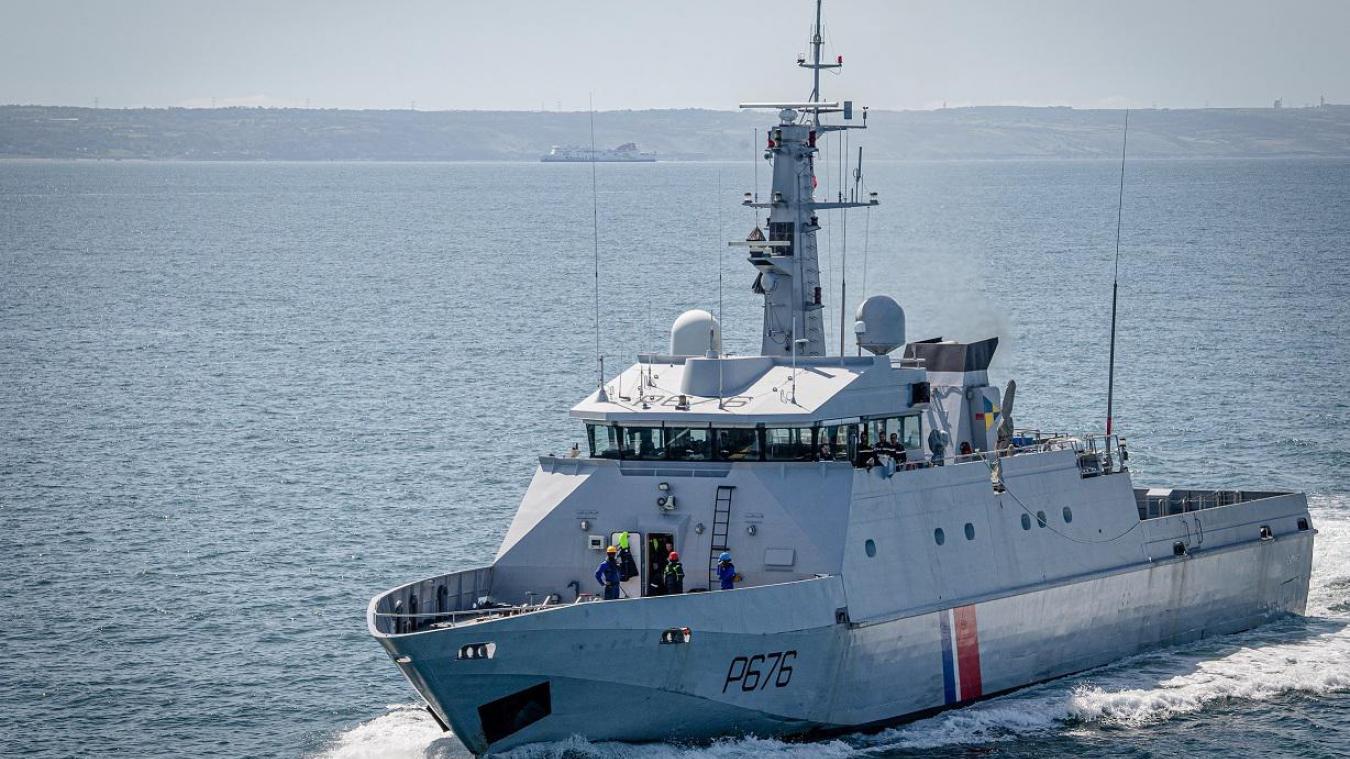 Le Patrouilleur de service public Cormoran a été engagé sur l'opération de sauvetage du plongeur, samedi après-midi.