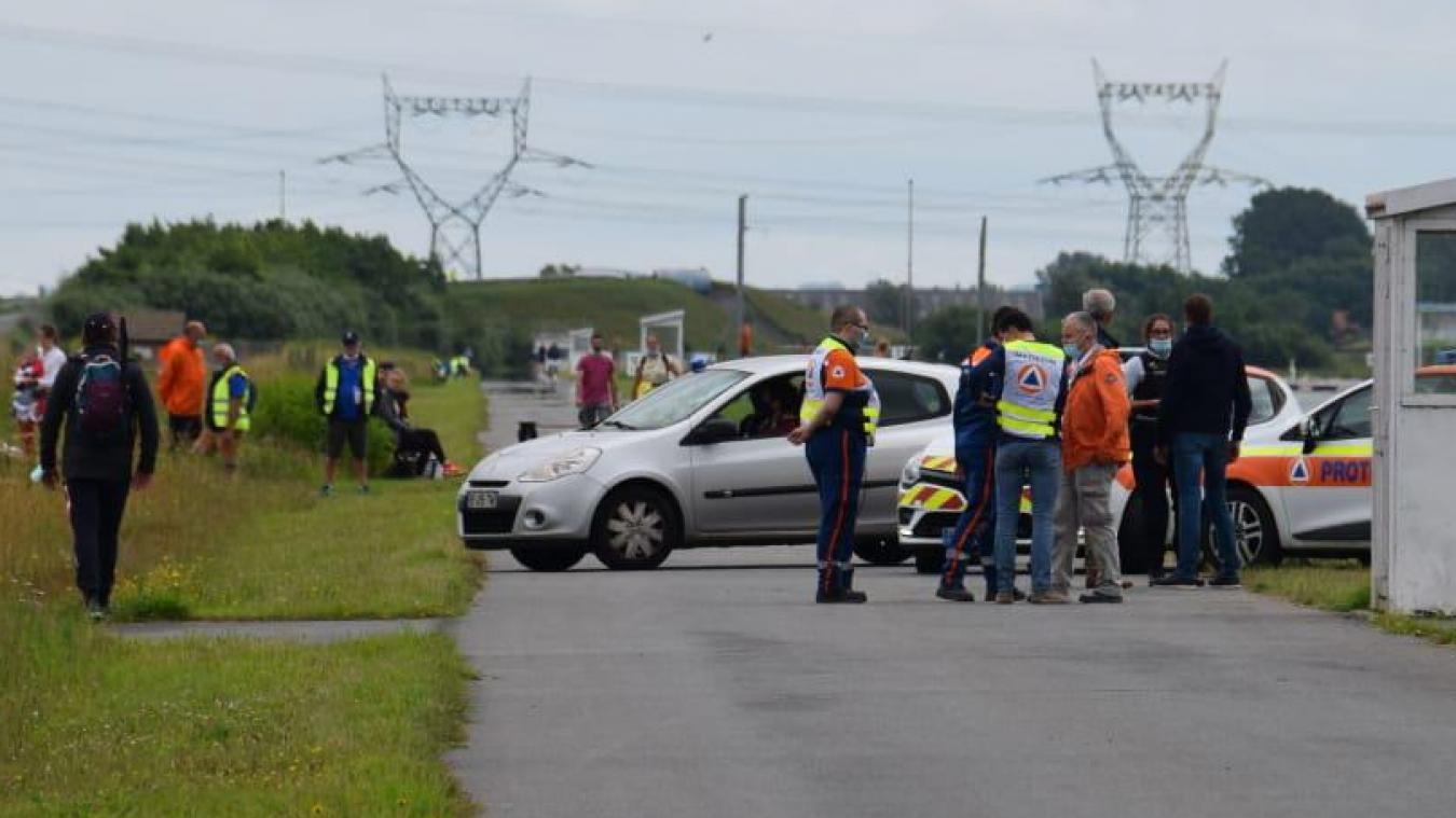 Police et secours sont rapidement intervenus au PAarc de Gravelines.