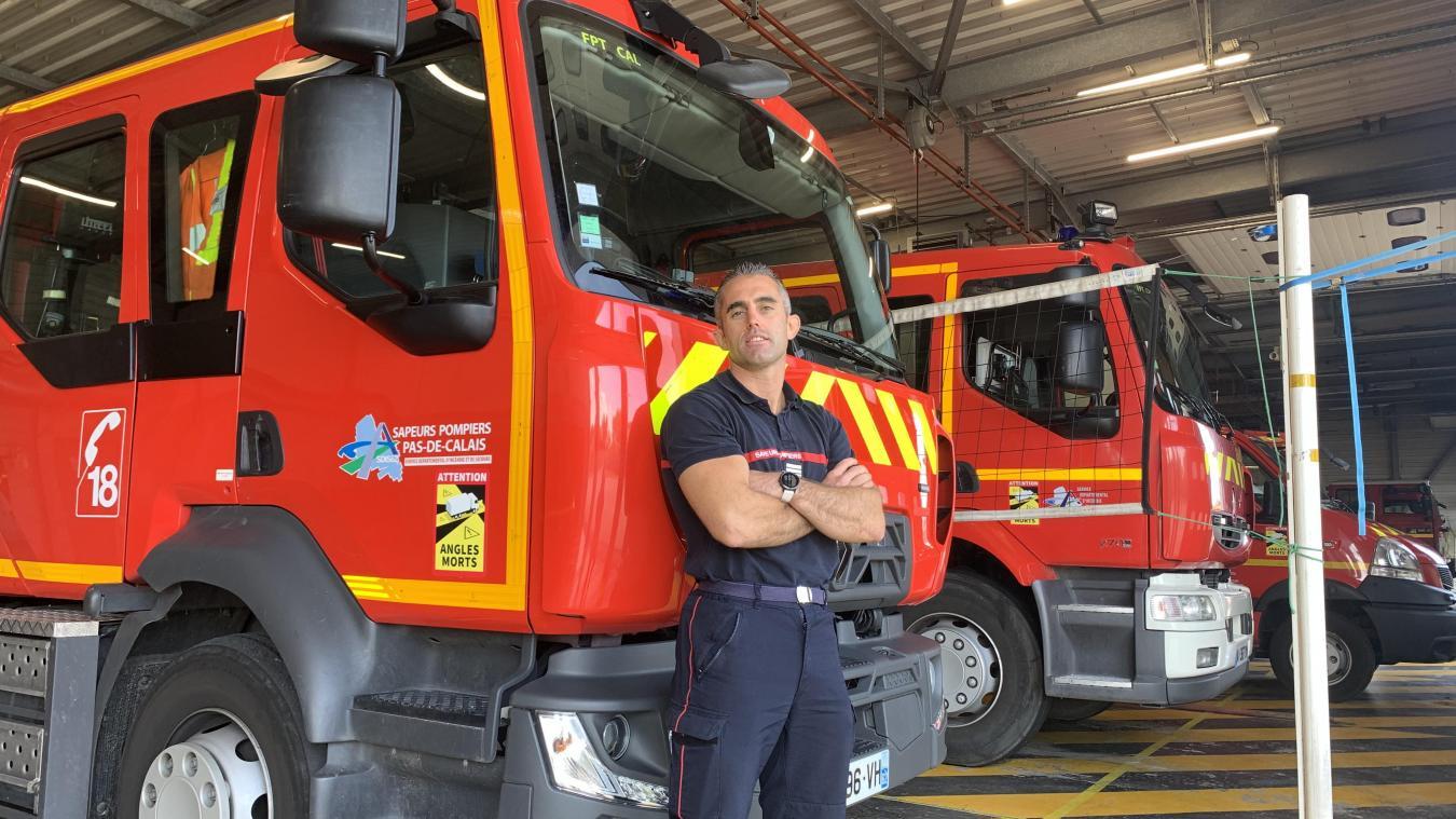 Nicolas Degroote est chef du centre de secours de Calais depuis le premier juin 2021.