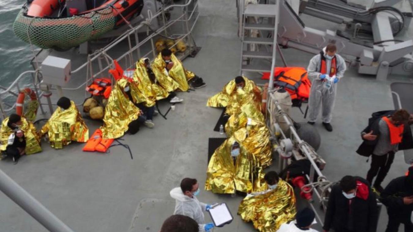 Les réfugiés ont été récupérés au large du Portel.