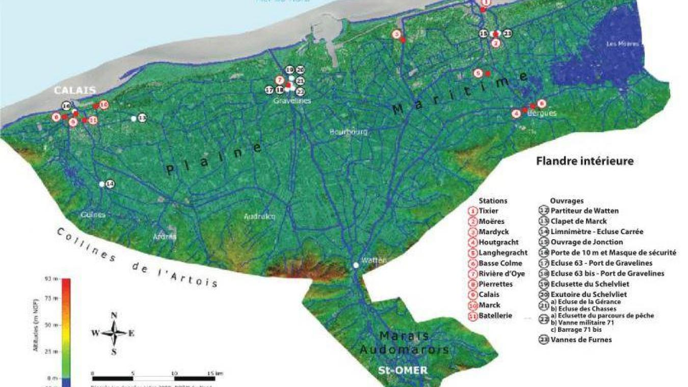 Un point de vue de la situation entre Calais et Dunkerque.