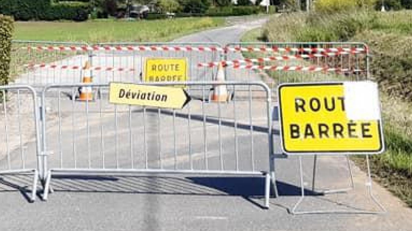 Route du Bistier, la circulation est interdite depuis lundi 5 juillet.