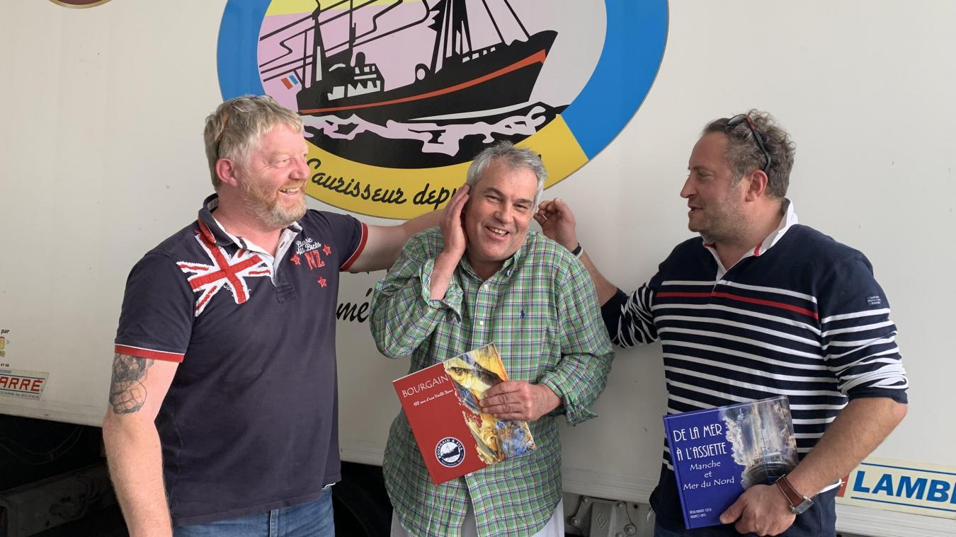 Boulogne-sur-Mer : Bruno Ghys, Pascal Bourgain et Régis-Hubert Clech à la Fête de la Mer