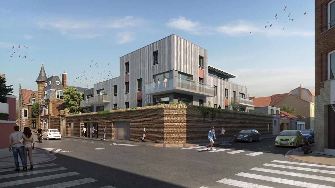 12 appartements haut de gamme vont voir le jour en 2023 à l'angle de la rue Bel air et de l'avenue Gaspard-Malo. Crédits Sockeel architectes