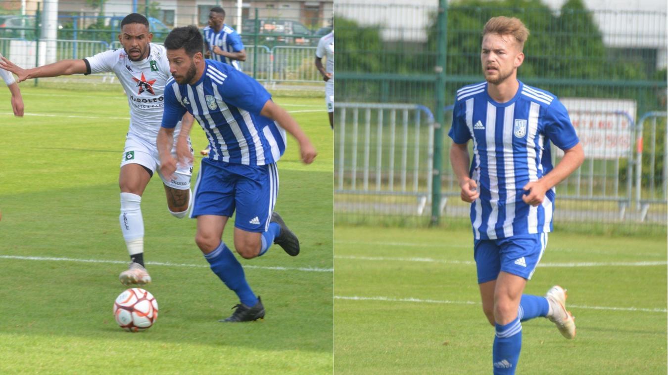Nicolas Bruneel (à droite) a disputé les deux premiers matchs de préparation, tandis que Kévin Rocheteau (à gauche) était absent contre Valenciennes.