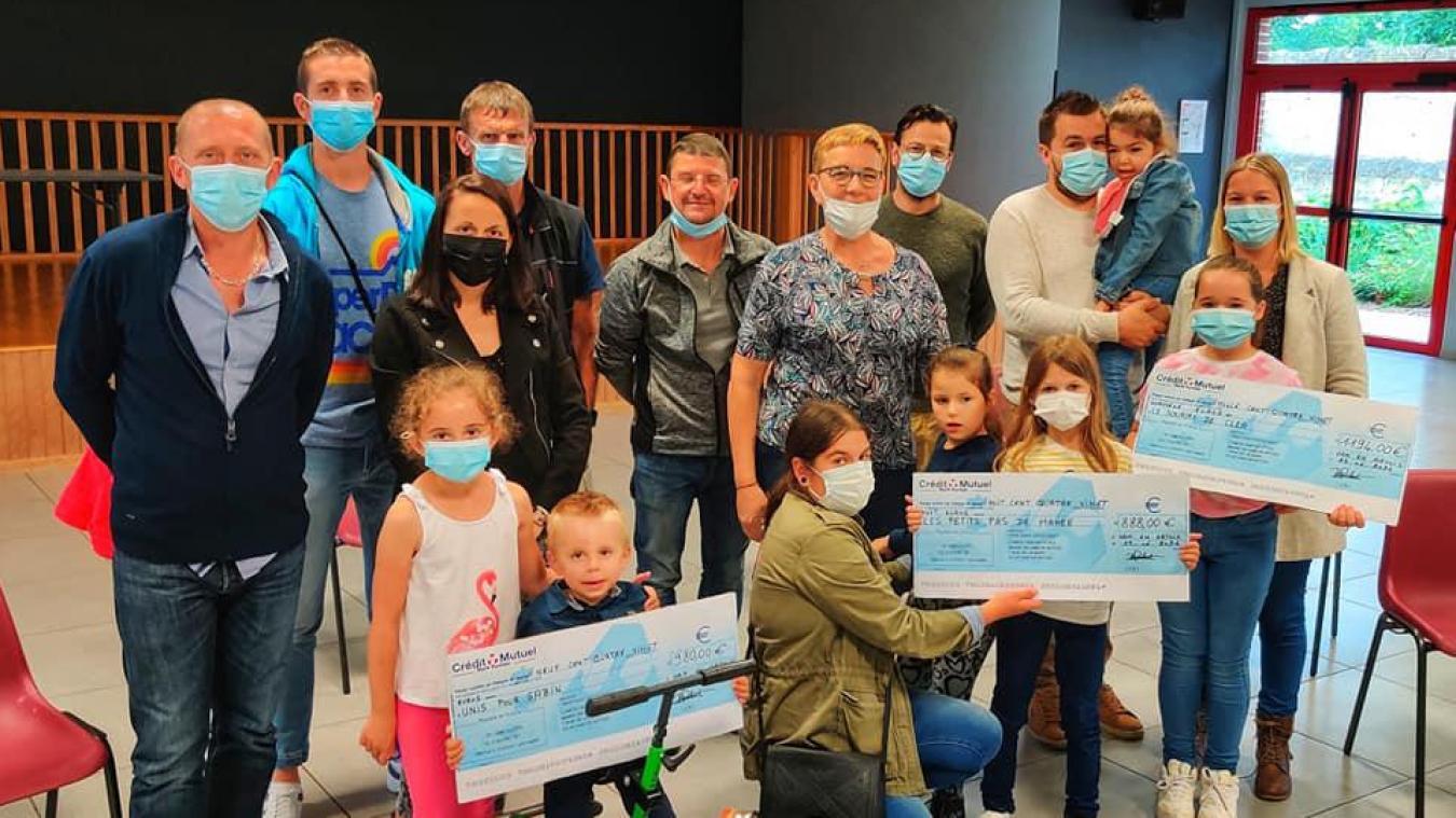Ham-en-Artois : Ham'N tes baskets remet les chèques aux trois associations