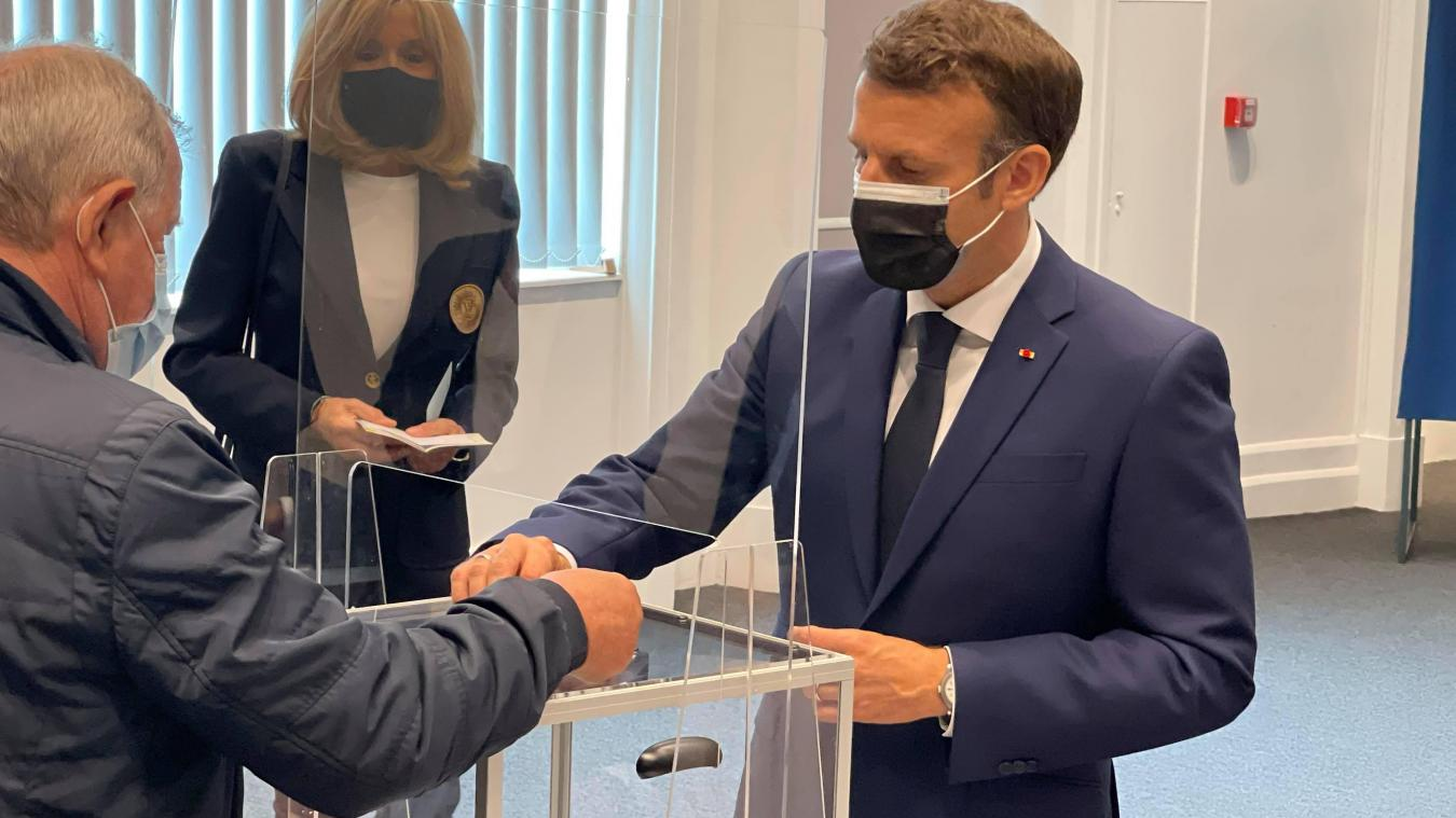Emmanuel Macron a voté au Touquet lors des élections régionales et départementales en juin 2021