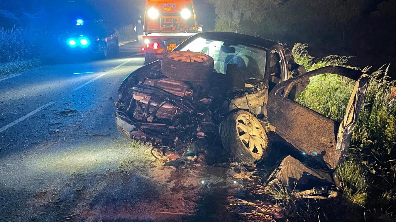 L'accident s'est produit sur la Départementale 341 entre Desvres et Senlecques.