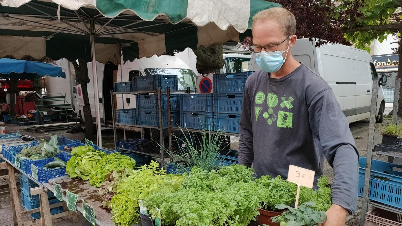 Bastien Danneels produit une quarantaine de légumes durant l'année. Le marché estival des producteurs sera l'occasion de découvrir son travail.