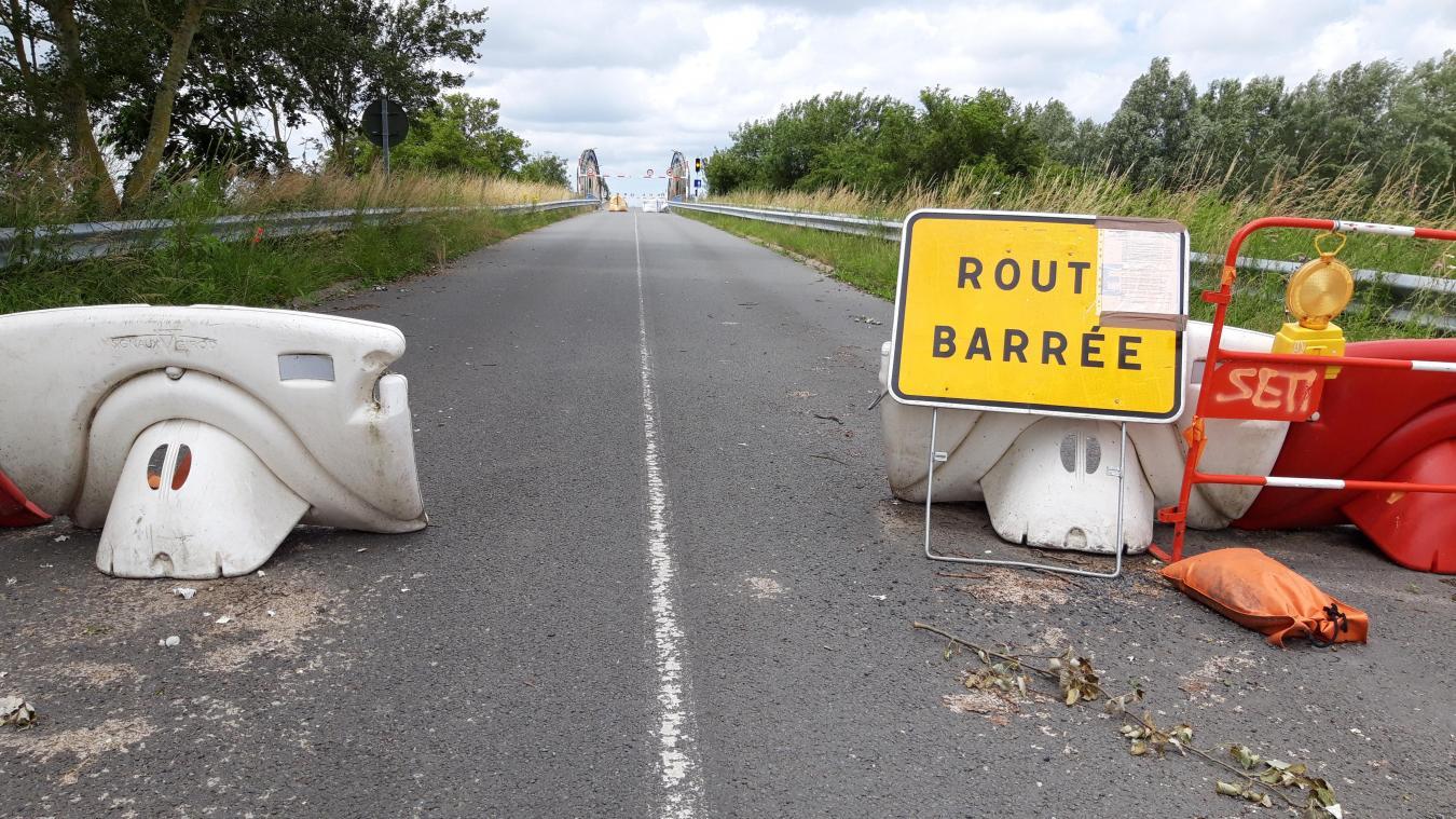Le pont de Looberghe est fermé à la circulation depuis le 12 mai dernier.