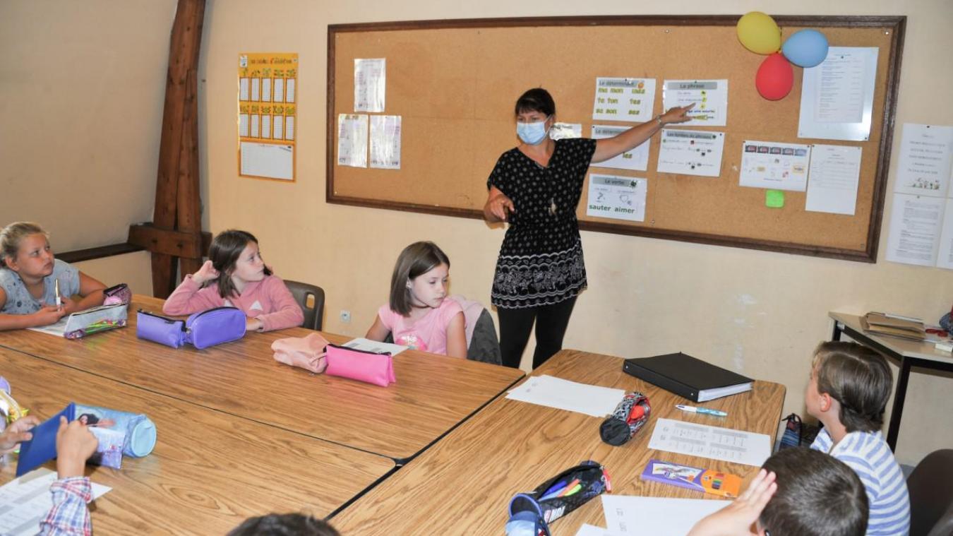 Sylvie Boussemaere, adjointe mais aussi directrice d'école, fait partie des enseignants mobilisés.