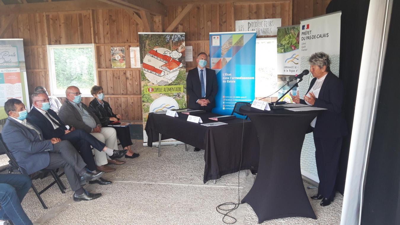 Nicole Chevalier a présenté les cinq axes du CRTE devant les maires et les représentants de l'Etat le 7 juillet dernier.