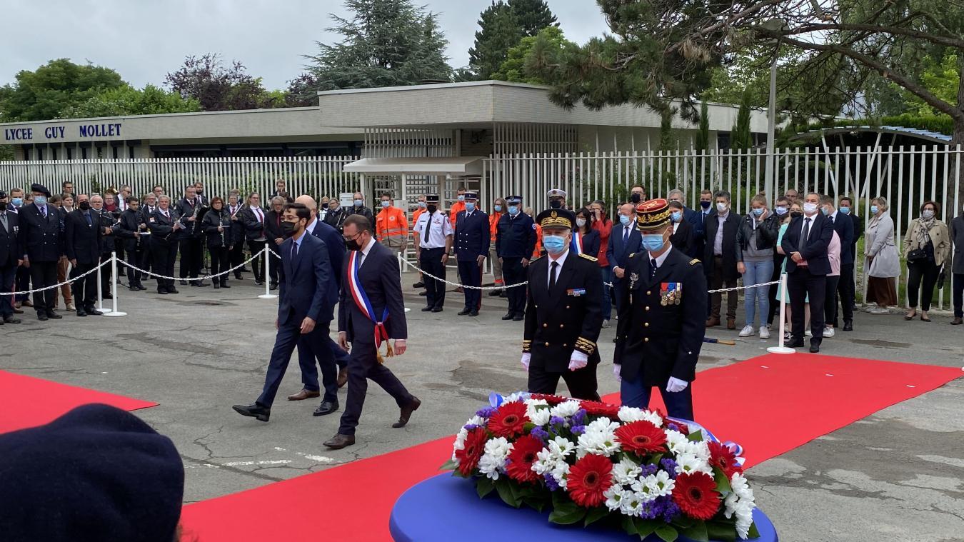 Le maire et le préfet étaient réunis pour inaugurer le square Arnaud-Beltrame
