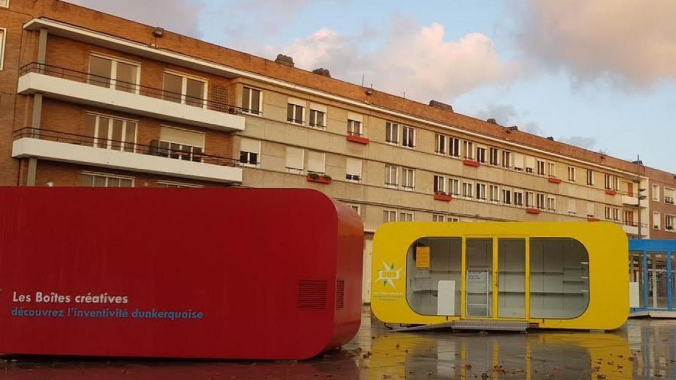 Cet été, la boîte créative rouge de la place Jean-Bart sera occupée par des créateurs, des entrepreneurs, des commercants et des artisans.