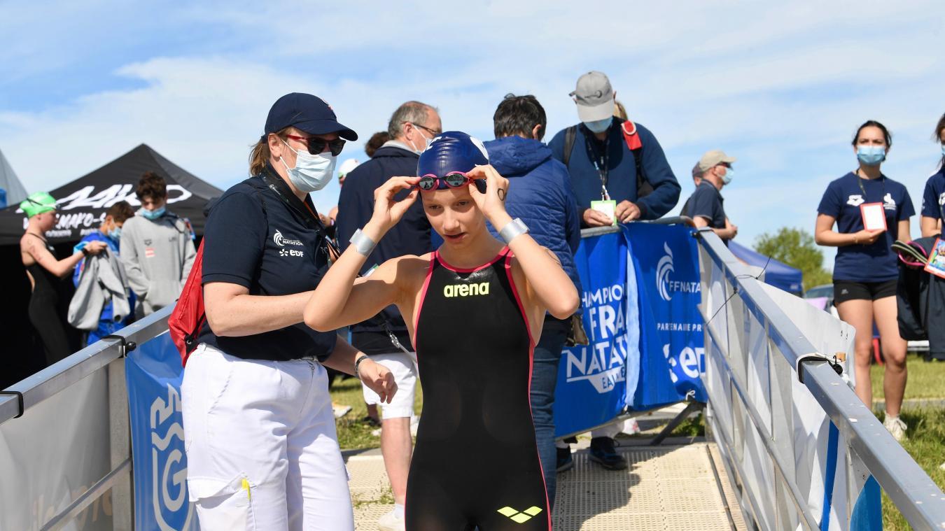 Mathilde Herlem a remporté le relais des Championnats de France d'eau libre en juin.