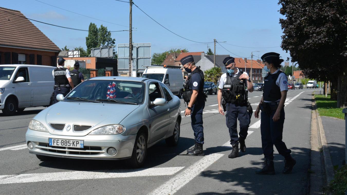 Les policiers ont effectué un contrôle, vendredi 16 juillet, de 16 heures à 17 heures.