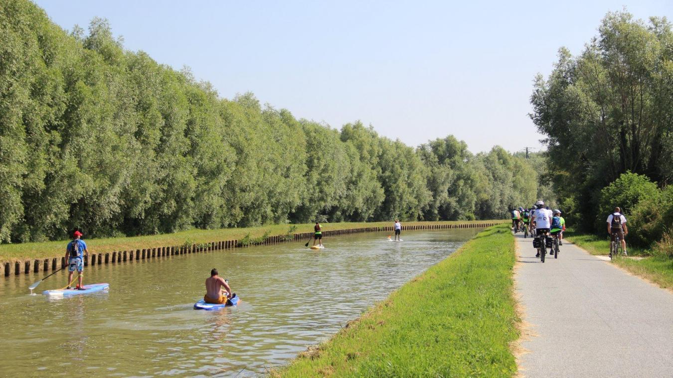 La Communauté de communes Flandre Lys, la commune d'Aire-sur-la-Lys et Lys sans Frontières proposent ces rendez-vous qui allient bateau et cyclo.