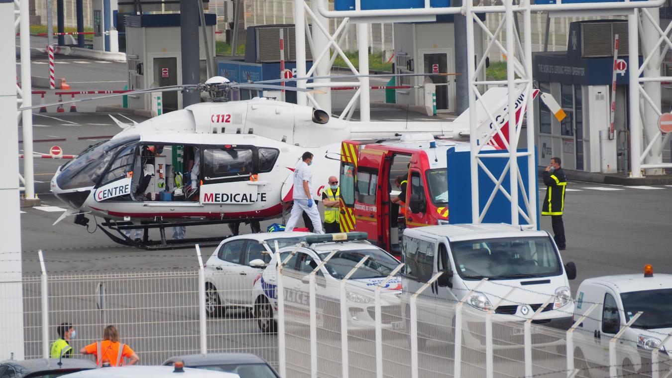 L'accident s'est produit ce jeudi au port de Calais.