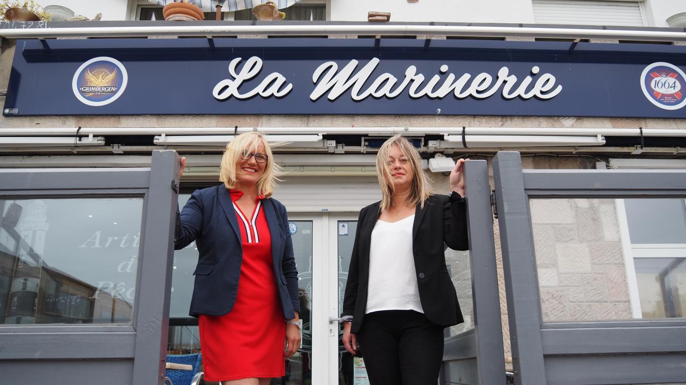 Karine Dutas (à g.) et Christelle Kelle (à d.) seront bientôt toutes deux aux manettes du café La Marinerie.