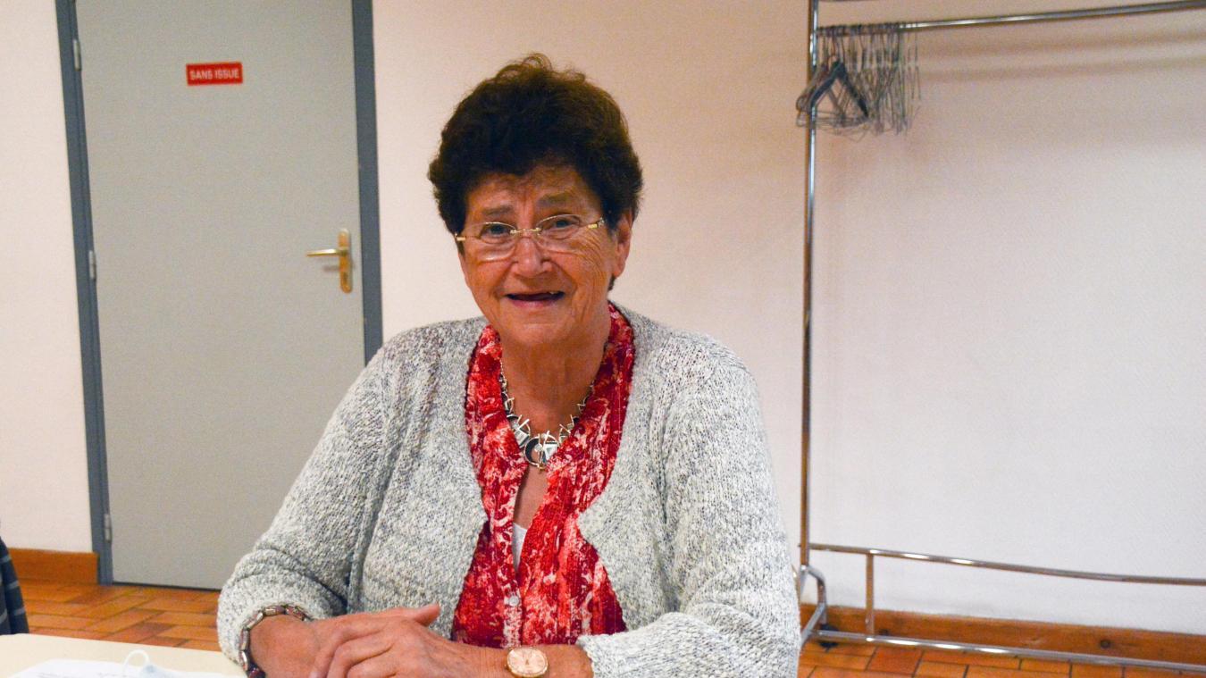 Marie-Thérèse Vanoise a débuté la dentelle aux fuseaux à la retraite.