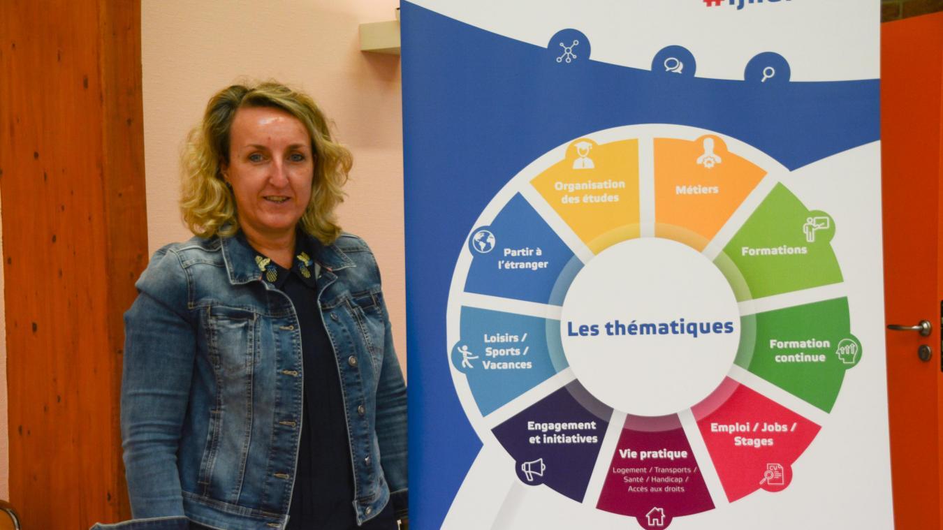 Carole Yvos est responsable du Point Information Jeunesse de Fauquembergues.