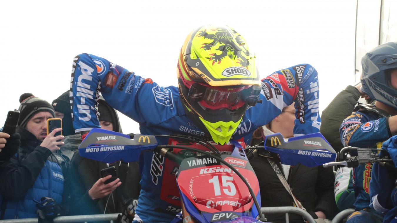 Milko Potisek prend la seconde place du championnat de France de motocross.