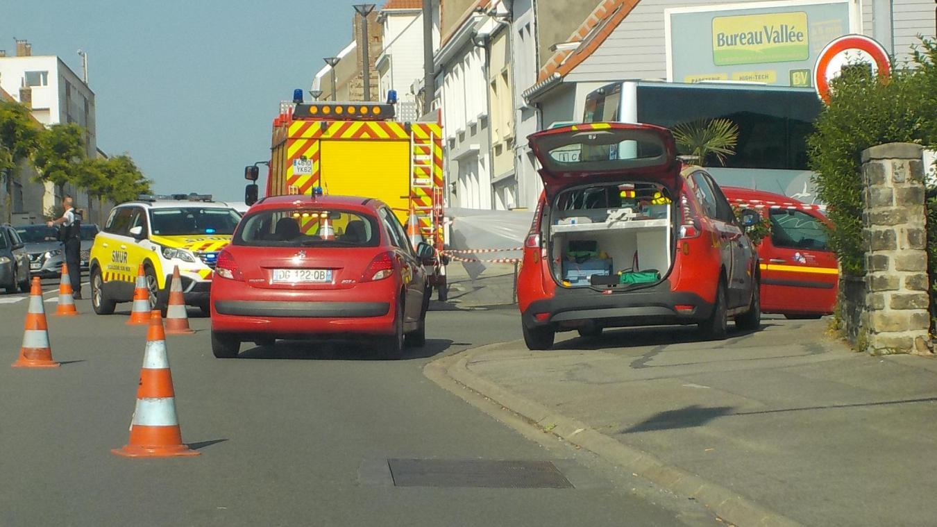 L'accident s'est produit rue au Bois à Saint-Martin.