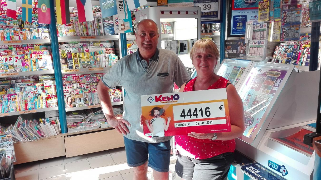 C'est au Totem de la Gare à Bailleul, géré par Christian et Christine Peeren, qu'a été remporté le jackpot de 44 416 euros.