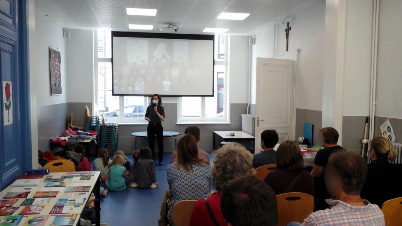 Valérie Gasnier transmet sa passion aux enfants.