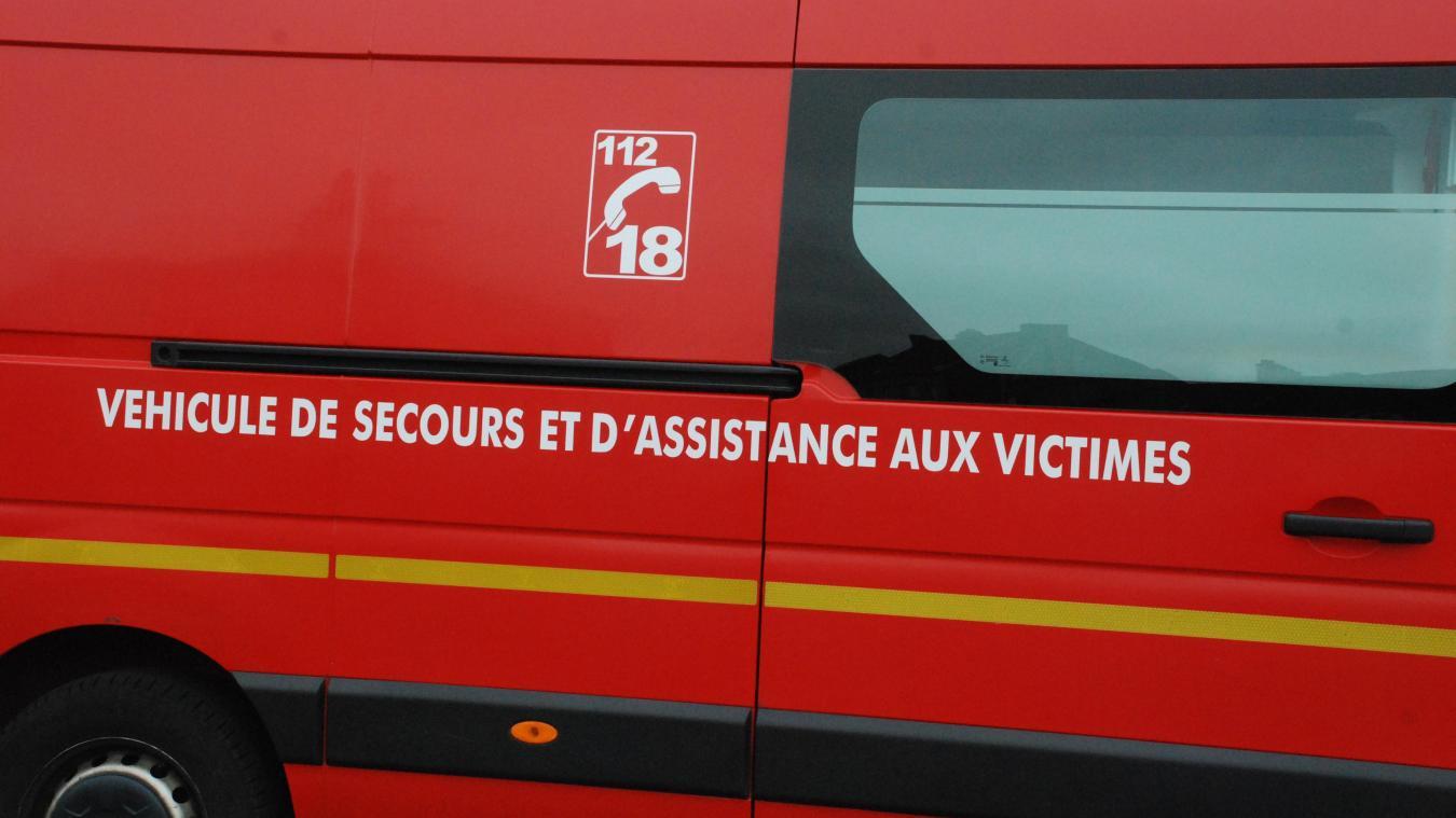 Les sapeurs-pompiers d'Hesdin sont intervenus peu avant 23h.