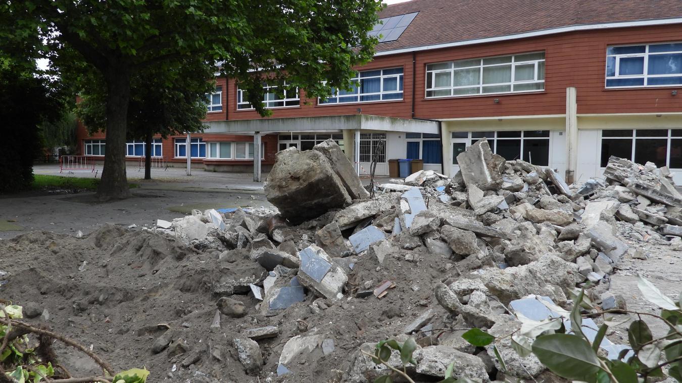 Des travaux à l'école de La Porte d'eau suscitent de nombreuses interrogations.