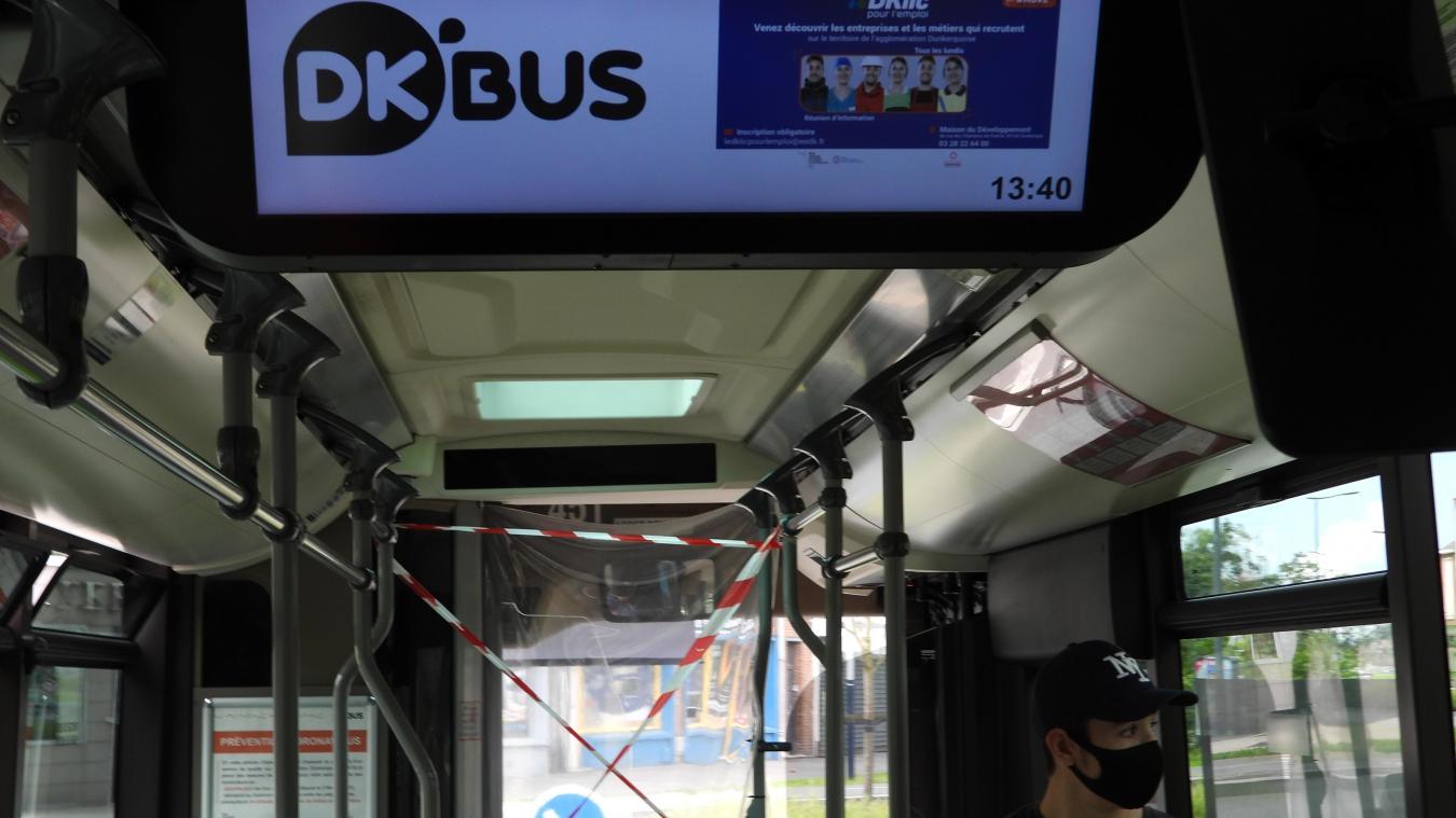 Les écrans dans les bus permettent aux usagers de connaître les offres d'emploi sur territoire.