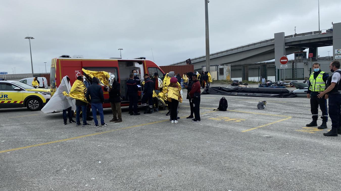 Une trentaine de migrants, dont cinq enfants, ont été secourus à Hardelot