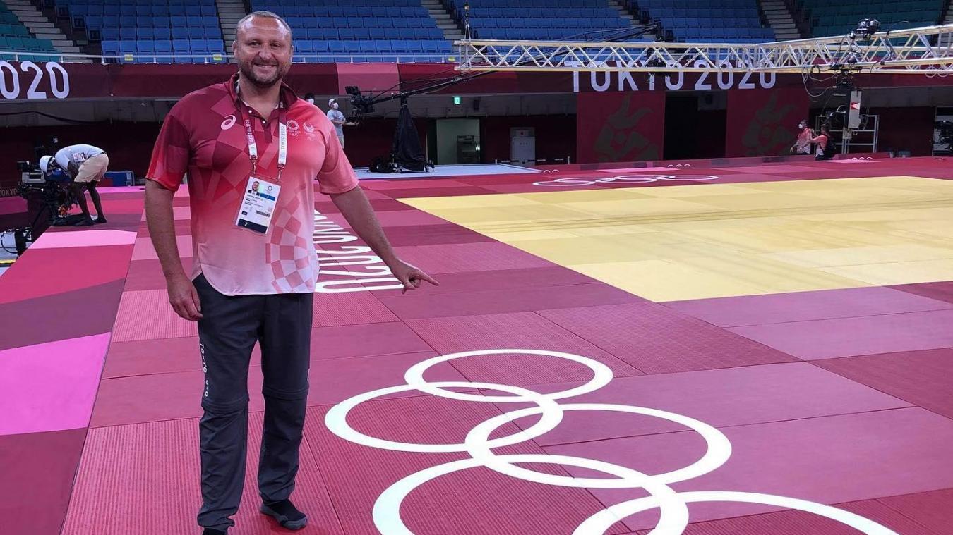 Matthieu Bataille est présent en ce moment sur les tatamis du tournoi olympique afin d'arbitrer différents combats.