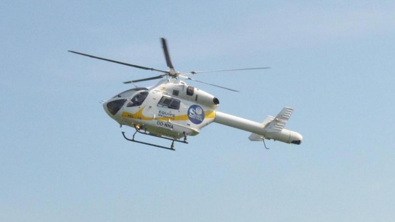 L'hélicoptère a été envoyé sur place.