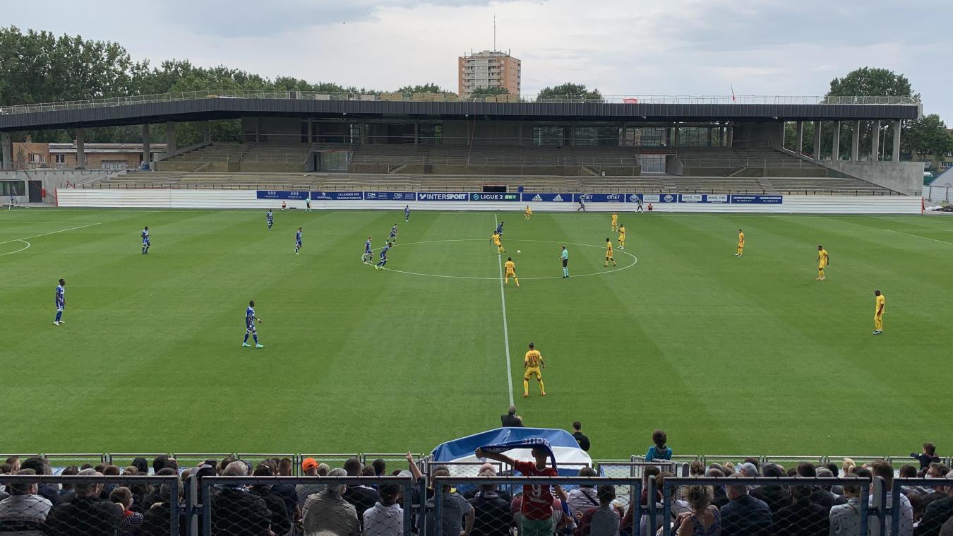 Cette 1re journée de championnat a été marquée par le retour du public au Stade Tribut (une tribune demeure en treavaux). Et il a su se faire entendre tout au long de la rencontre.