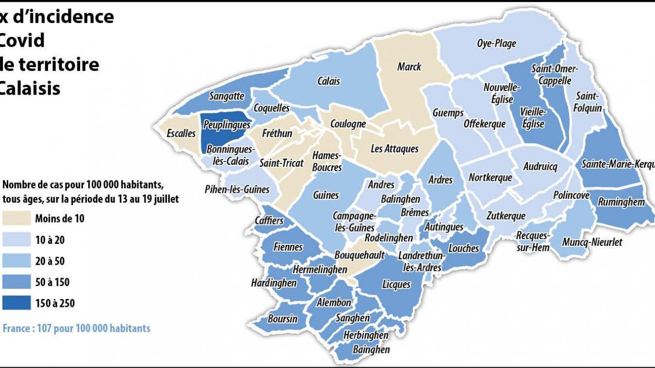Covid-19: des chiffres pour suivre en temps réel l'évolution de la pandémie dans votre quartier de Calais