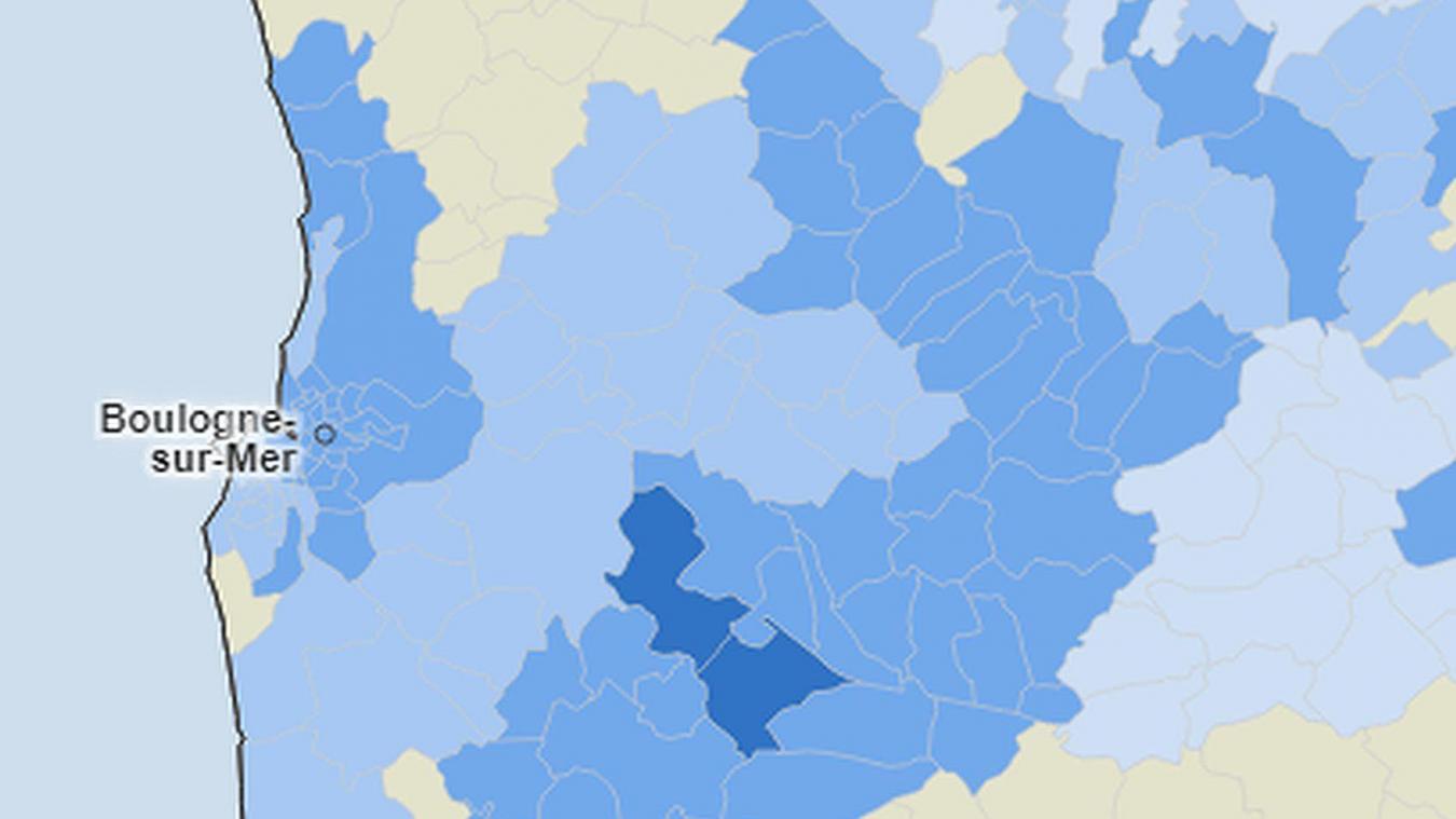 Une carte publiée par le site Internet Santé publique France qui s'appuie sur de nombreuses données.