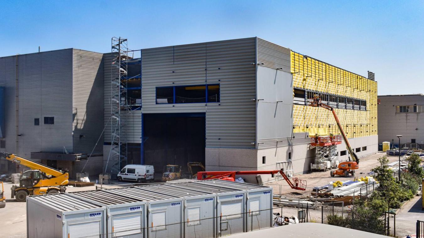 Deux bâtiments sont en cours de construction sur le site d'Alcatel Calais.