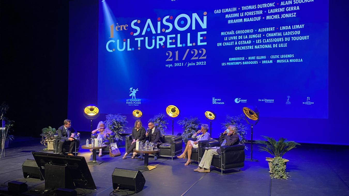 Pierre Labonté à présenté la saison culturelle, samedi 24 juillet, dans la salle Ravel du palais des Congrès.