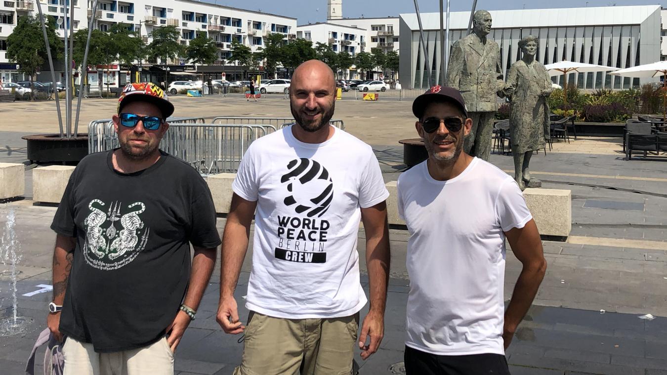 Ici de gauche à droite : Pierre, Anje et Julien