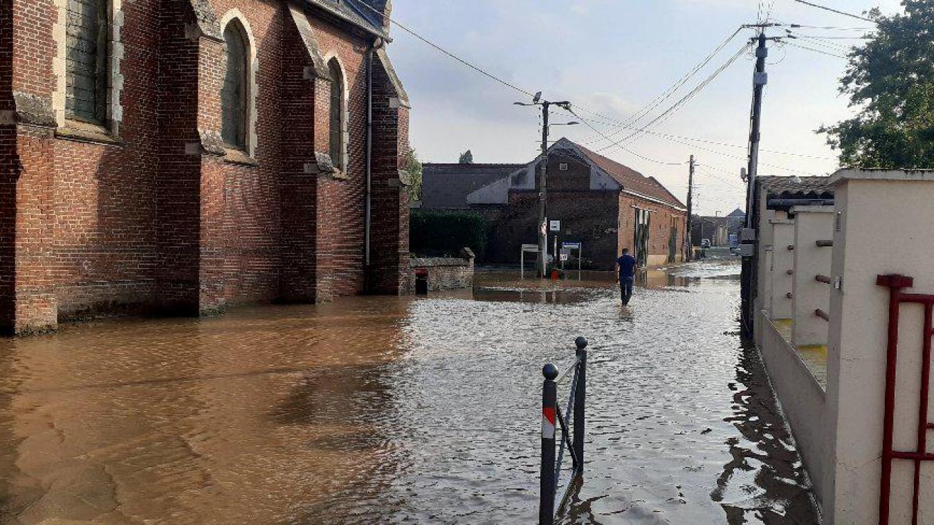 La Grand Rue inondée.