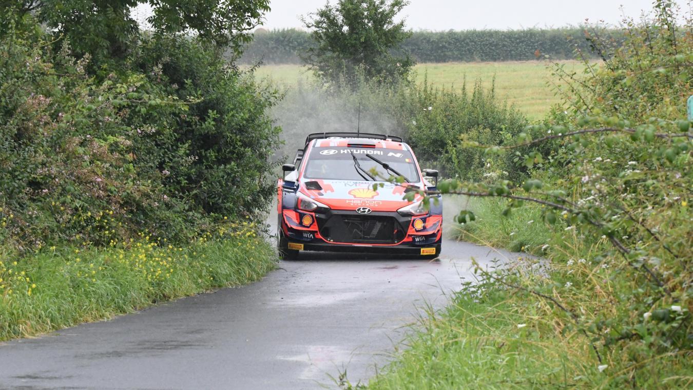 Thierry Neuville a parcouru les routes entre Buysscheure et Noordpeene lundi 26 juillet.