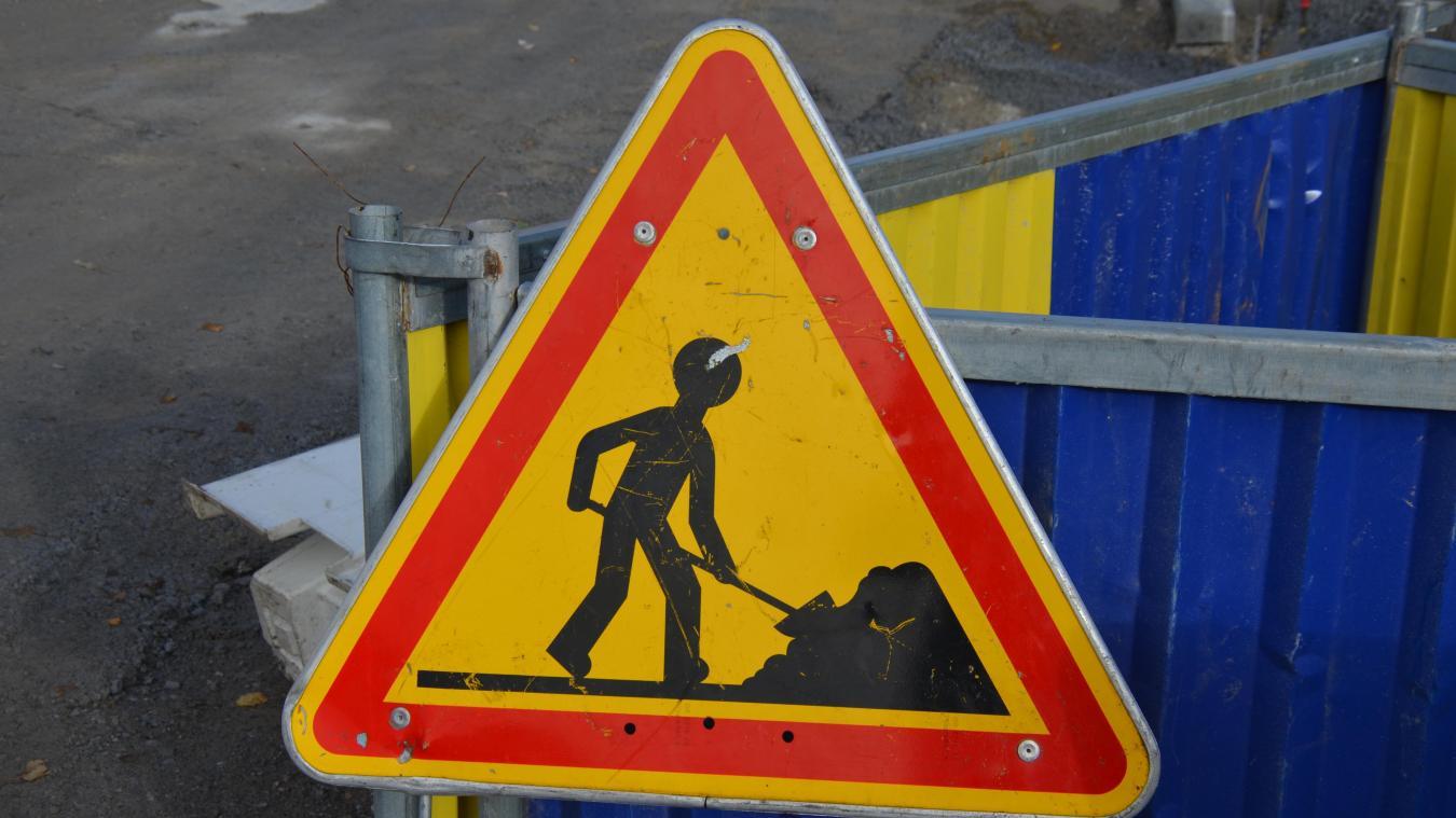 Des travaux sont réalisés dans la ville de Dunkerque pour aménager les routes.