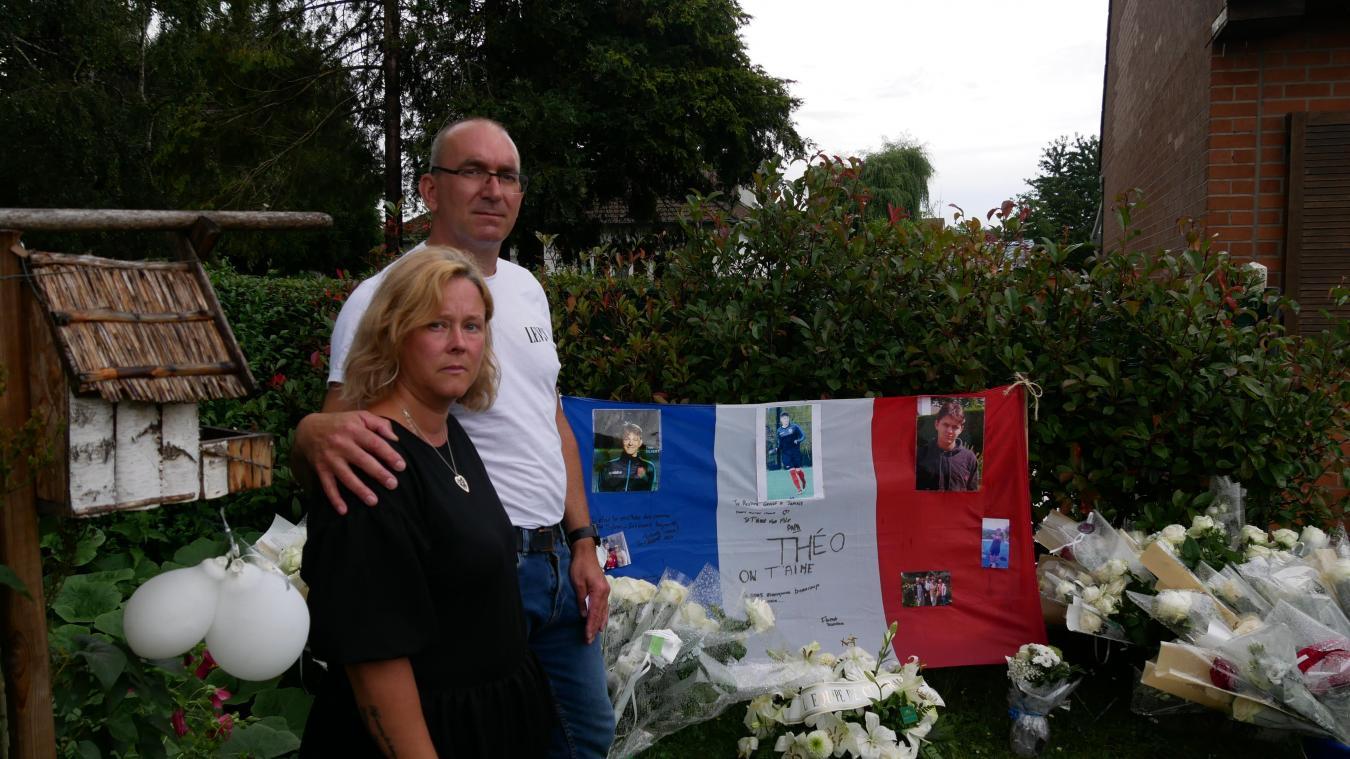 Daniel et Delphine Silvert ont été très touchés par l'hommage rendu à leur fils.