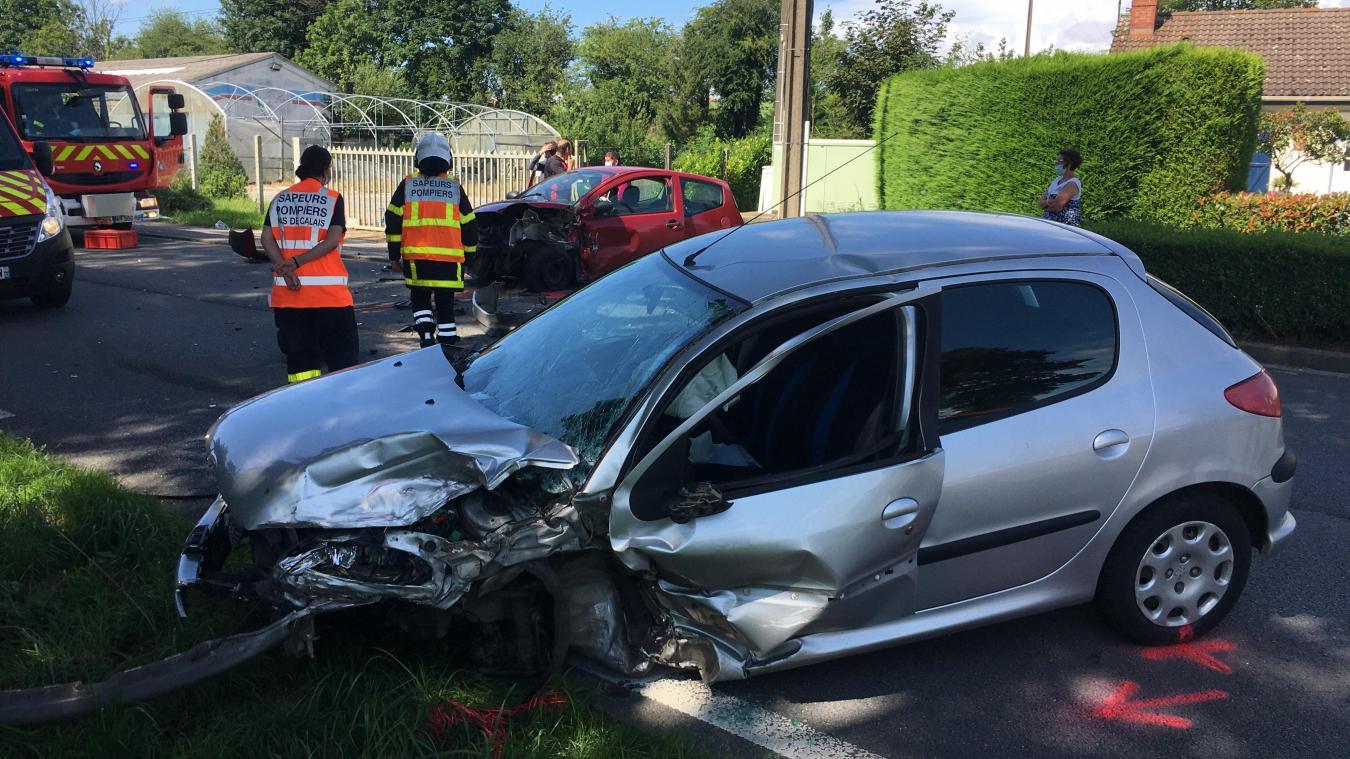 La collision est survenue ce mercredi 28 juillet vers 15h à hauteur de la commune d'Enocq.