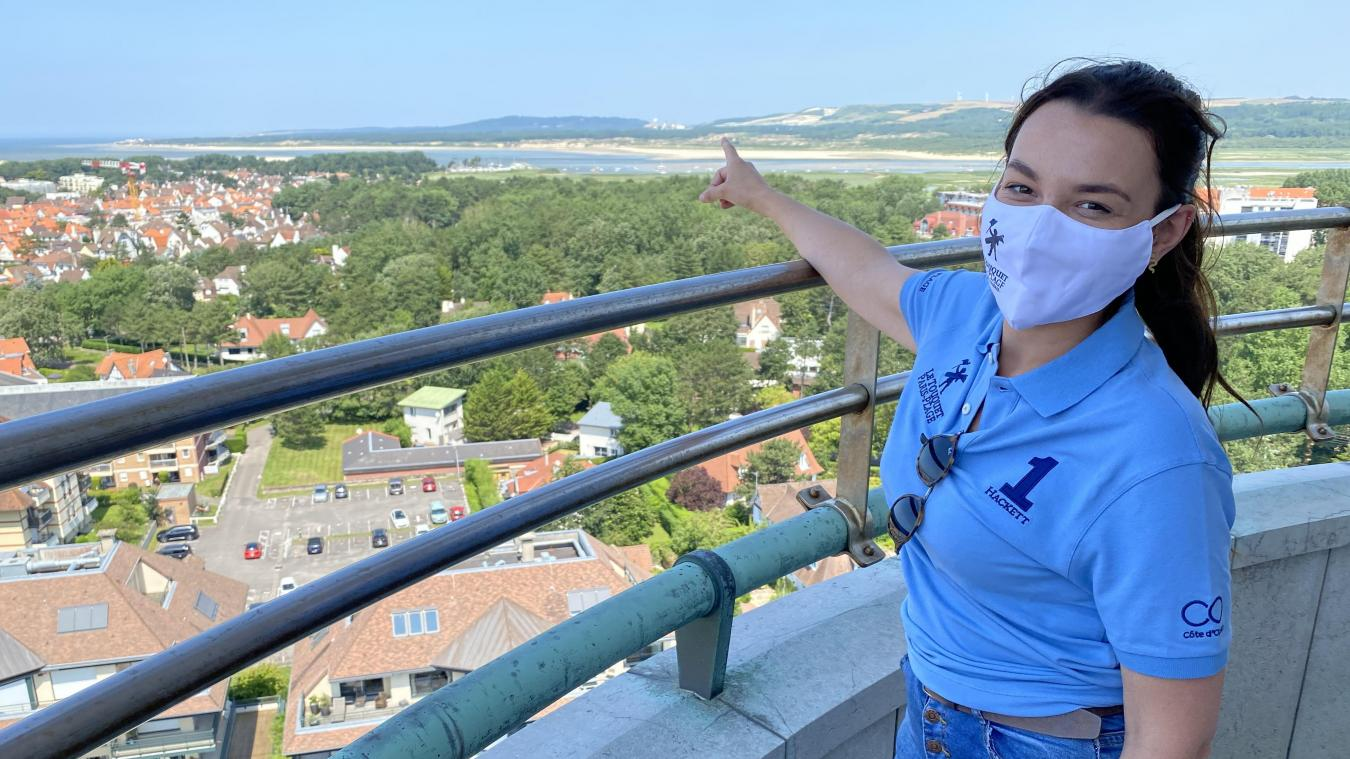 Tessy et toute l'équipe du service Patrimoine & Nature du Touquet s'occupent des visites du phare toute l'année.